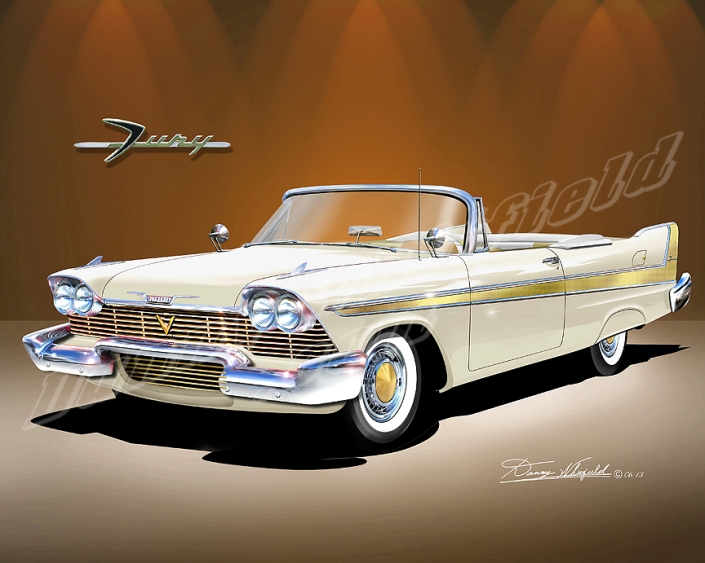 buy this perfect art representation of Chrysler's dream machines of the 50's  at Danny Whitfield.com