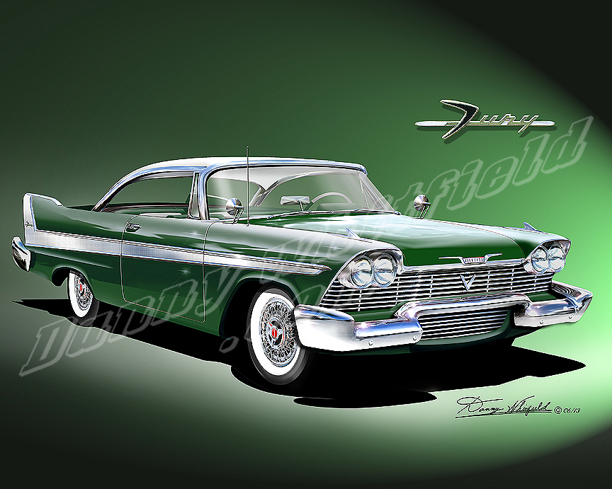 1958 PLYMOUTH FURY ART PRINTS BY DANNY WHITFIELD AVAILABLE « The