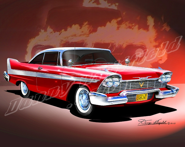 1958 PLYMOUTH FURY   CHRISTINE!  ROYAL RED