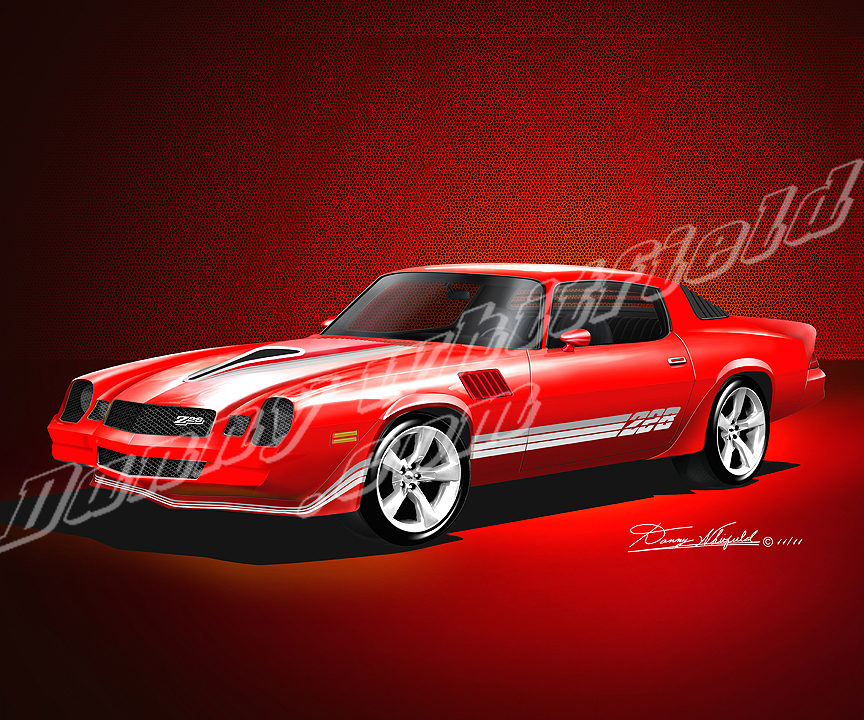 Classic Muscle Cars >> 1978 – 1979 CHEVROLET CAMARO Z28 ART PRINTS BY DANNY ...