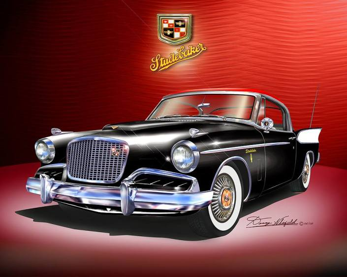 1957 Studebaker Art print by Danny Whitfield