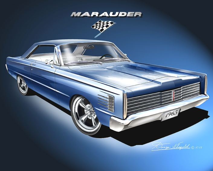 1965 MERCURY MARAUDER FASTBACK - BLUE MAZE