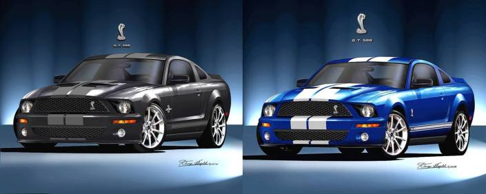 2007 #Mustang #Shelby GT #art print.