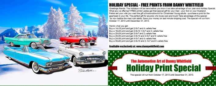 HOLIDAY SPECIAL - FREE PRINTS FROM DANNY WHITFIELD