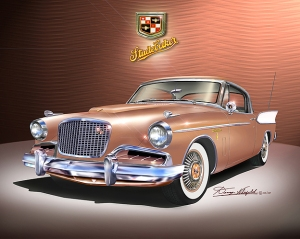 ITEM 25-A-5 1957 Studebaker Golden Hawk (Coppertone poly)