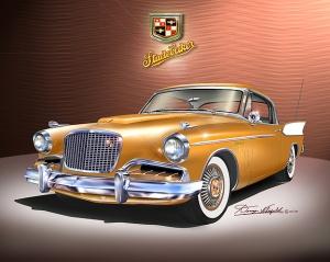 ITEM 25-A-7 1957 Studebaker Golden Hawk (Chrome yellow)