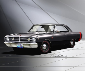 ITEM 50-A-19 1968 DODGE DART GTS- BLACK