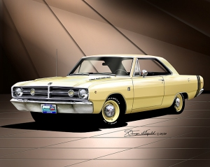 ITEM 50-A-2 1968 DODGE DART GTS-YELLOW