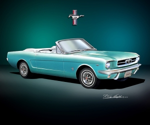 ITEM 6-A-4 1965 MUSTANG  Dynasty Green