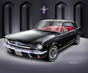 ITEM 6-A-7 1965 MUSTANG COUPE (RAVEN BLACK)
