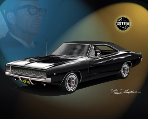 ITEM 68-C-B 1968 DODGE CHARGER BULLITT - Featuring Bill Hickman