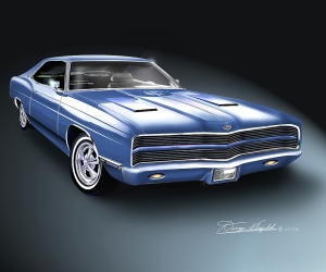 ITEM 8-B-26 1969 FORD LAZZARO XL (Egyptian blue)