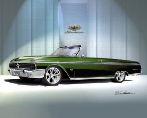 ITEM 8-F-X3 1962 FORD SUNLINER XLX (GREEN SYRUP)