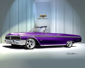 ITEM 8-F-X4 1962 FORD SUNLINER XLX (LOLI-POP PURPLE)