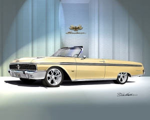 ITEM 8-F-X5 1962 FORD SUNLINER XLX (SANDSHELL YELLOW)