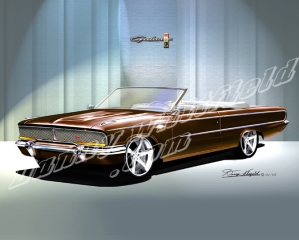 ITEM 8-F-X7 1962 FORD LA-GALAXIE XL (COCA COLA BROWN)