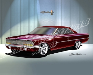 ITEM 8-F-X8 1962 FORD LA-GALAXIE XL (RASPBERRY)