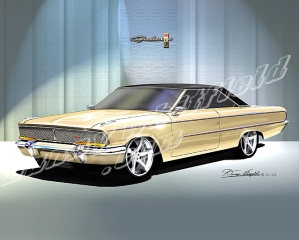ITEM 8-F-X9 1962 FORD LA-GALAXIE XL (ARIZONA YELLOW)