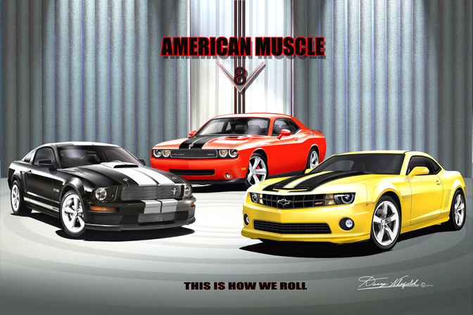AMERICAN MUSCLE- THIS IS HOW WE ROLL
