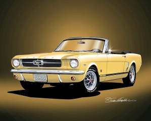 ITEM M-65-12 1965 MUSTANG  CONVERTIBILE - POENICIAN YELLOW