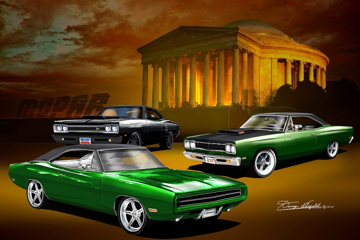 MOPAR-THE SECRET MISSION ART PRINT BY DANNY WHITFIELD