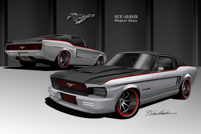Mustangs Illustrated: Interview With Automotive Artist Danny Whitfield