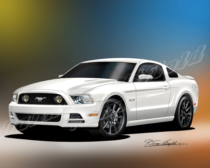 2013 2014 ford mustang boss 302 the automotive art of. Black Bedroom Furniture Sets. Home Design Ideas