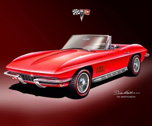 ITEM 3-G-1 1967 CORVETTE 427 ROADSTER (RALLEY RED)-2