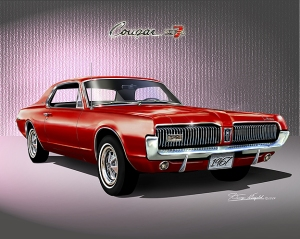 ITEM 40-A-4 1967 MERUCRY COUGAR XR-7 (Cardial Red)
