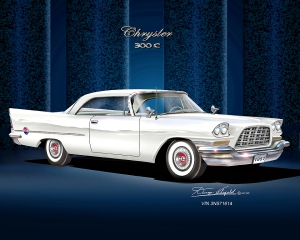 ITEM 40-A-8 1957 CHRYSLER 300-C (Alaskan White)-2