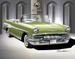 ITEM 5-E-3 1957 PONTIAC STAR CHIEF Mint green