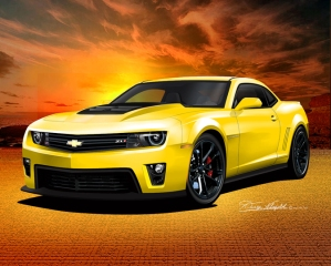 ITEM CZL1-2 2012 CAMARO ZL-1 RALLEY YELLOW