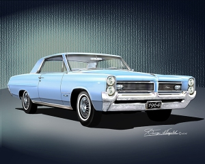ITEM G-P-5 1964 PONTIAC GRAND PRIX (Skyline blue)