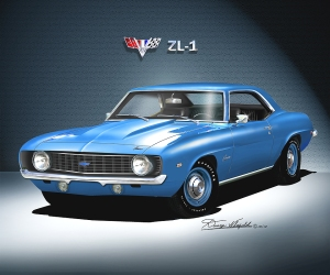1969 CAMARO ZL-1 - ART PRINT BY DANNY WHITFIELD