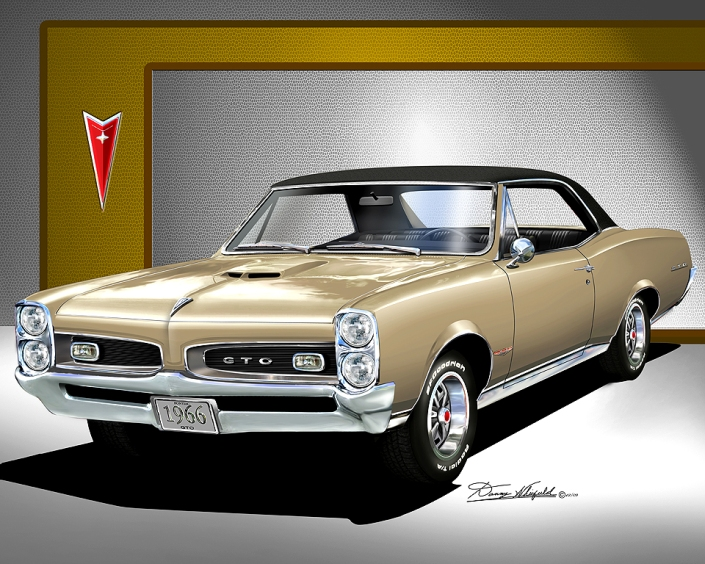 Buy the art print at: http://www.dannywhitfield.com/1966_1967_GTO.html