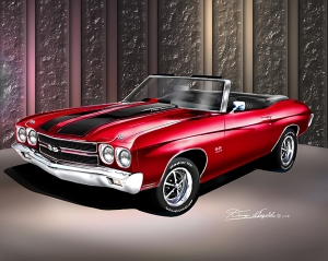 Buy this sweet Chevelle and art print and other models at Danny Whitifeld.com