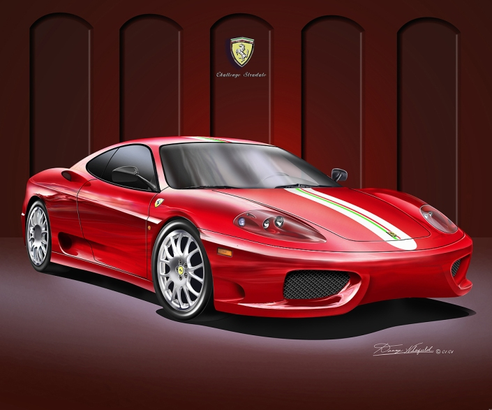BUY THIS FERRARI CHALLENGE STRADALE ART PRINT AT DANNYWHITFIELD.COM