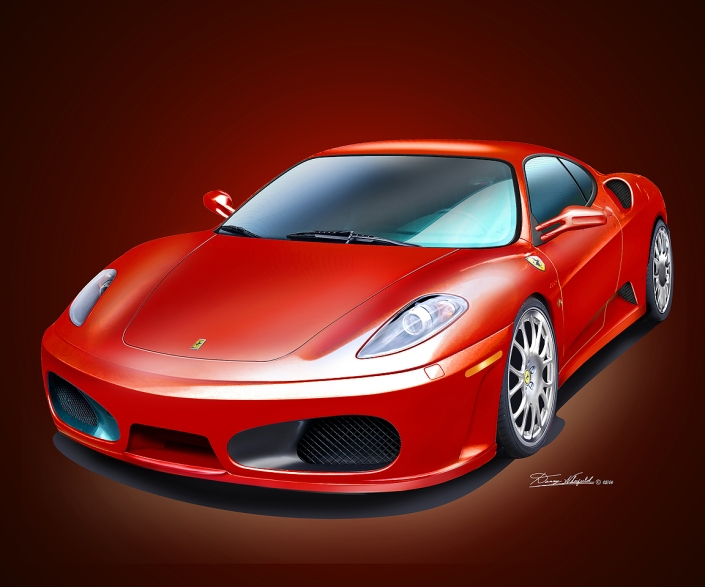 BUY THIS 2006 FERRARI  F430 CHALLENGE ART AT DANNY WHITFIELD.COM
