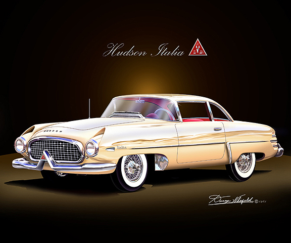 1953 HUDSON ITALIA ART PRINT BY DANNY WHITFIELD! BUY IT AT DANNY WHITFIELD.COM