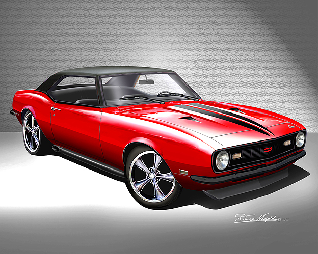 ITEM CC-2-68 1968 CUSTOM CAMARO FIRECRACKER  (PLAZMA RED)