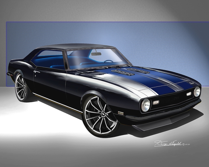 HOT CUSTOM CAMARO PRINT BY DANNY WHITIFELD
