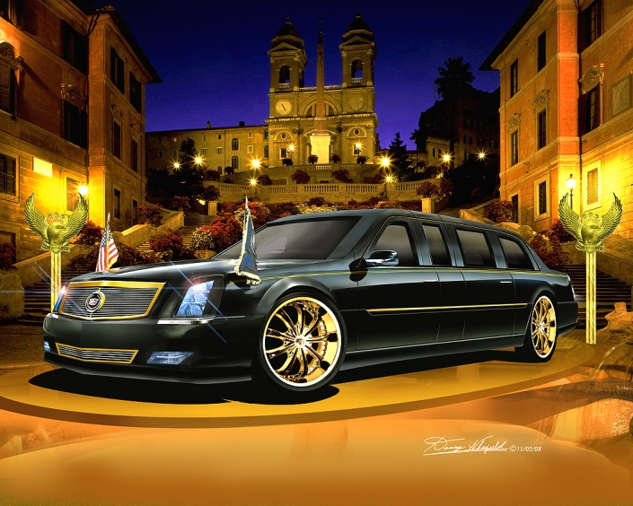 2008 CADILLAC - MAC DADDY -LIMOUSINE (ROYLE BLING VERSION)