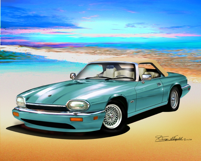 ITEM 11-C-5 1994 JAGUAR XJS (Peppermint green)