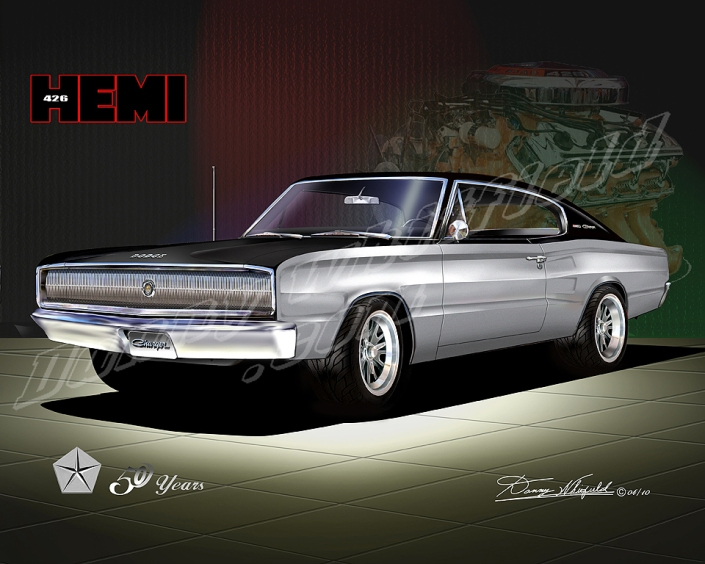 1966 Dodge Charger f/v- Mopar celebrates 50 years of the 426 Hem