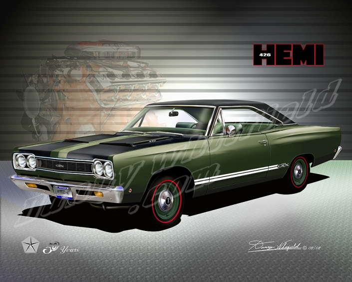ITEM 18-HE-2 1968 PLYMOUTH GTX - HEMI 50 YEARS