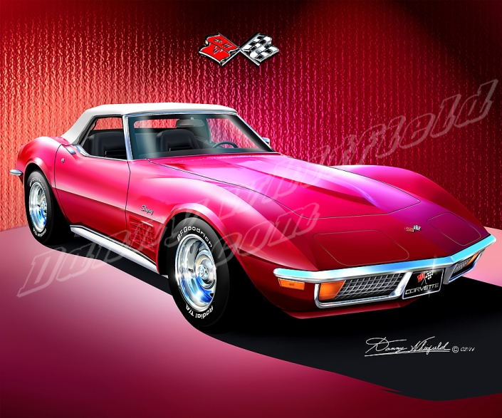 2014 CHEVROLET CORVETTE STINGRAY ART BY DANNY WHITFIELD