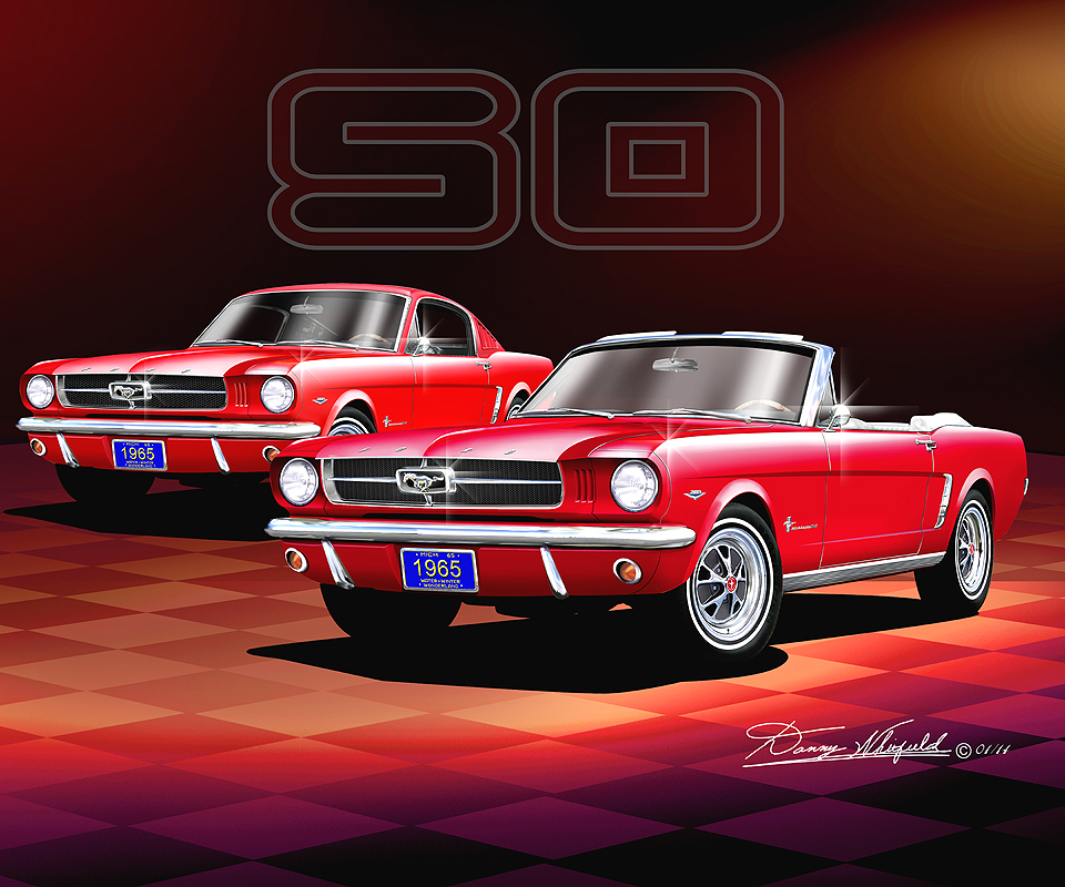 Happy Birthday Mustang Get A Customized Print Of Your Car At Www