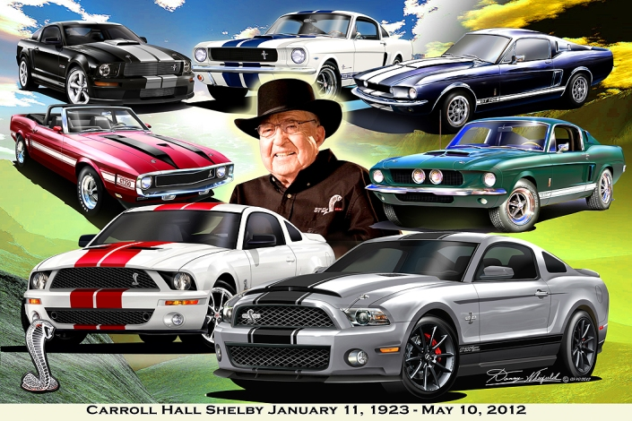 Carroll Hall Shelby January 11, 1923 - May 10, 2012 art print by
