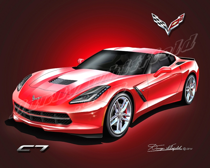 2014 Corvette Stingray Amp Hennessey Art By Danny