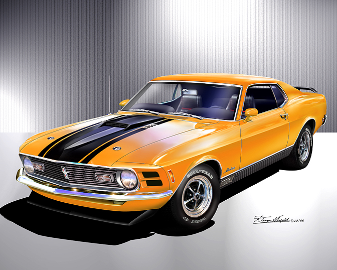 ITEM 6-E-19 1970 FORD MUSTANG MACH-1 (Competition Orange)